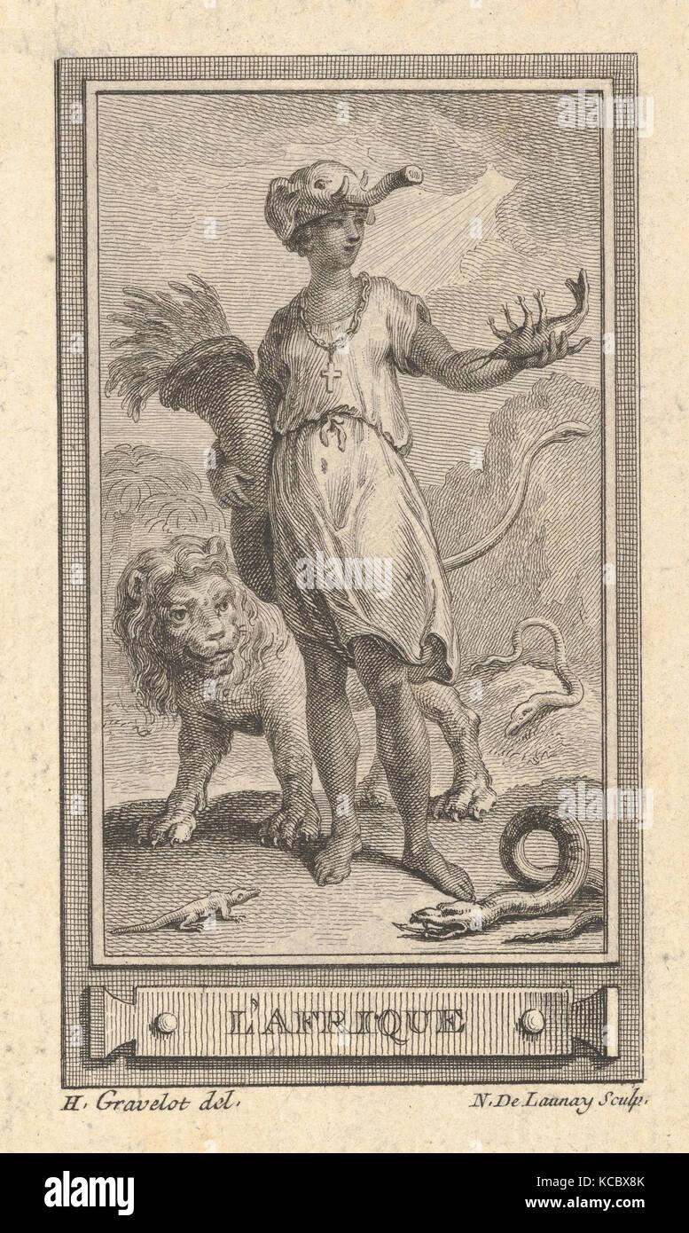L'Afrique, After Hubert François Gravelot, 18th century - Stock Image