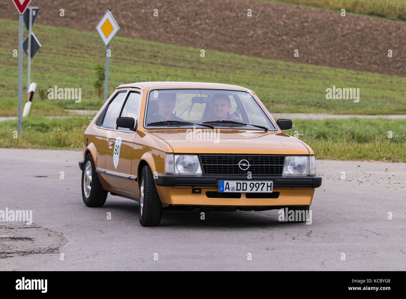 Augsburg Germany October 1 2017 Opel Kadett D Oldtimer Car At Stock Photo Alamy