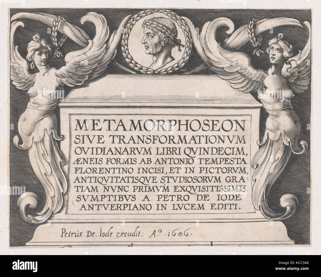 Titlepage to Ovid's 'Metamorphoses', Antonio Tempesta, 1606 - Stock Image