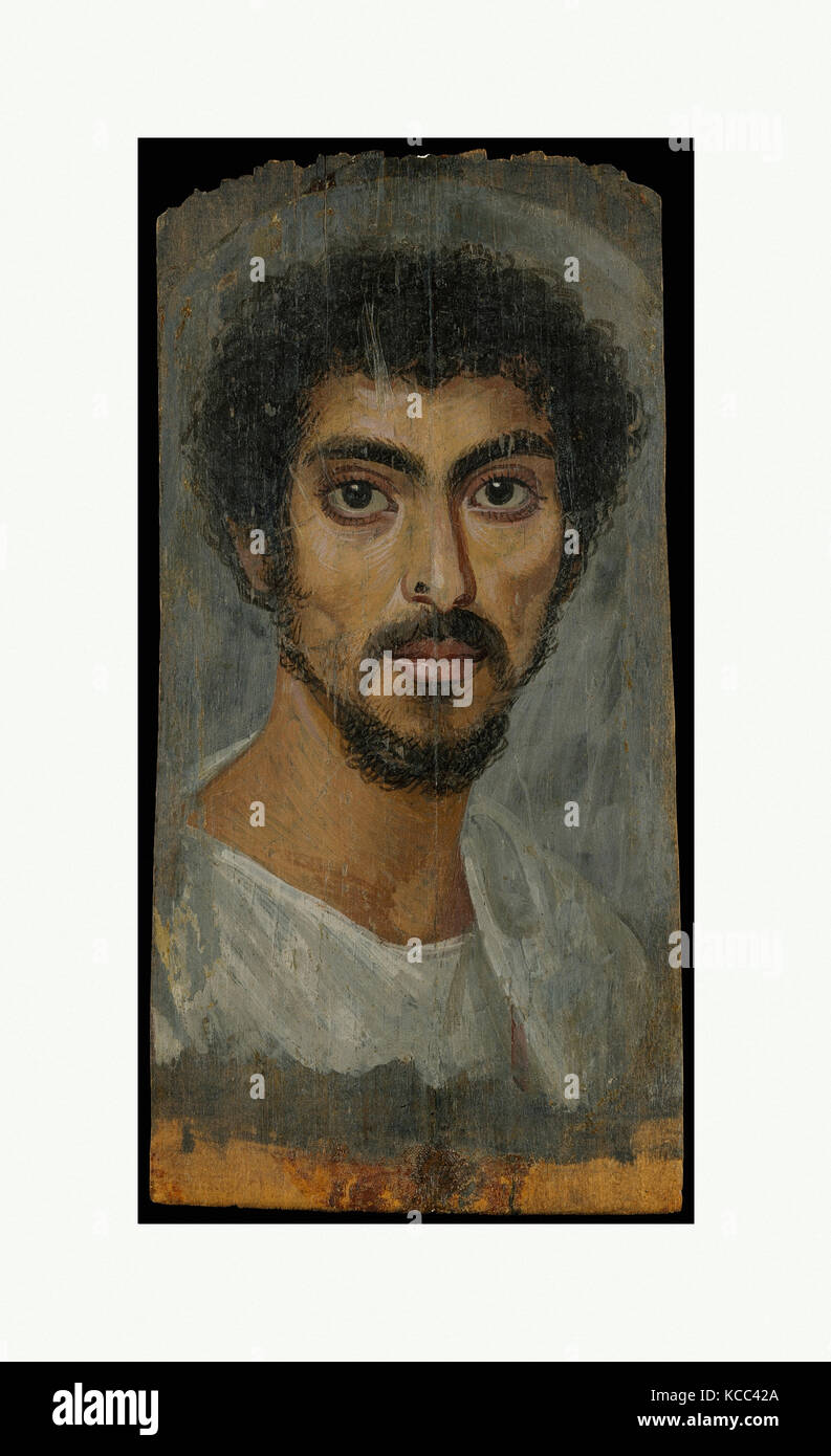 Portrait of a man with a mole on his nose, A.D. 130–150 - Stock Image