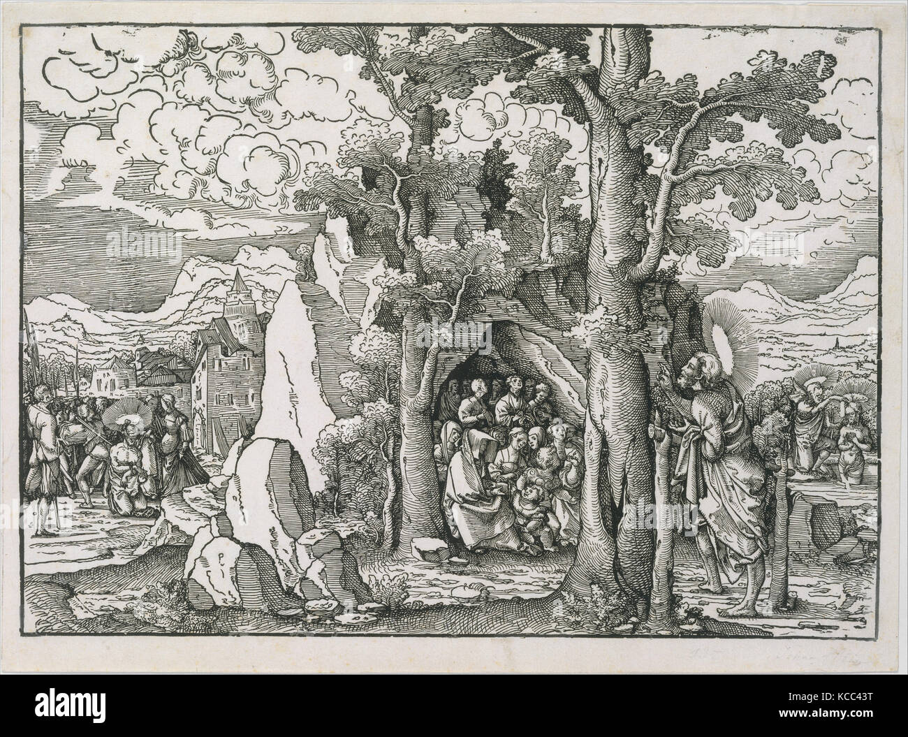 Scenes from the Life of Saint John the Baptist, Frans Crabbe van Espleghem, ca. 1522 - Stock Image