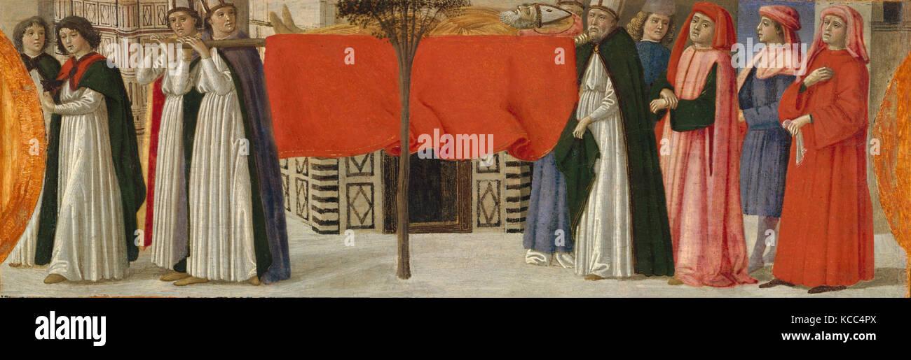The Burial of Saint Zenobius, Davide Ghirlandaio, ca. 1479 - Stock Image