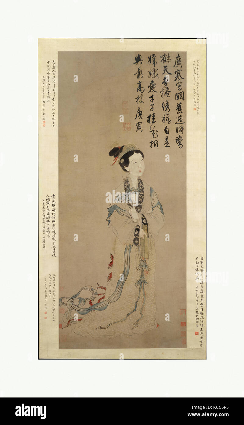 The Moon Goddess Chang E, Unidentified Artist, After Tang Yin - Stock Image