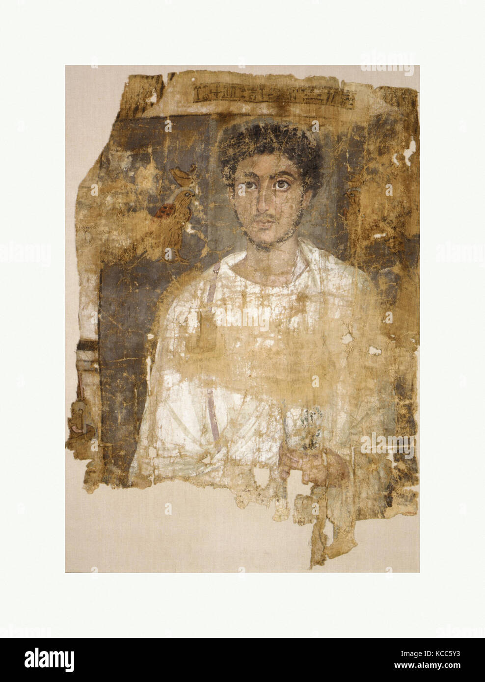 Fragmentary Shroud with a Bearded Young Man, A.D. 120–150 - Stock Image