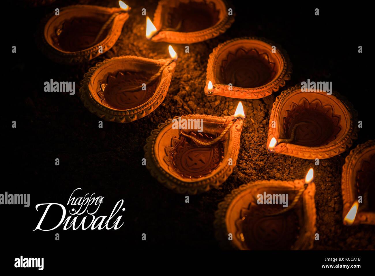 Diwali Greeting Card Stock Photos Diwali Greeting Card Stock