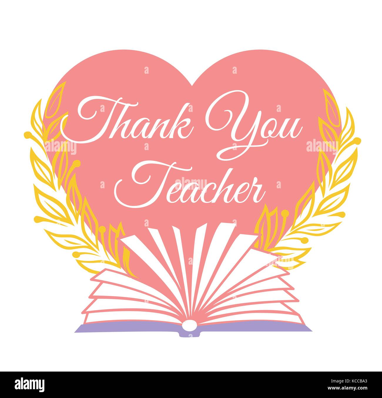 Greeting card for the teachers day in the form of a heart with an greeting card for the teachers day in the form of a heart with an inscription and an open book inscription thank you teacher m4hsunfo