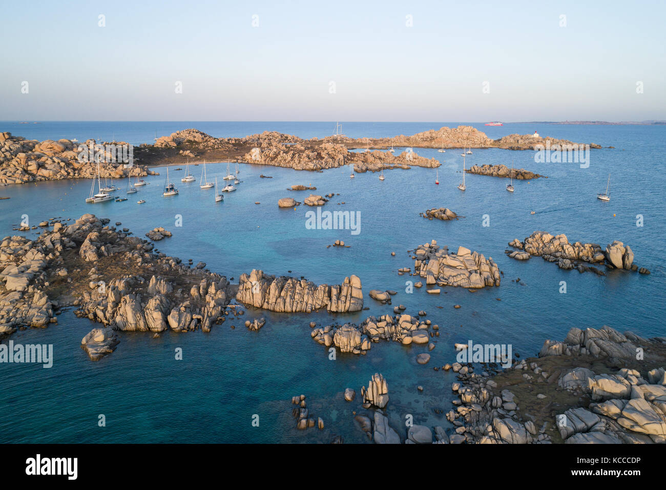 Aerial view of Lavezzi island, France - Stock Image