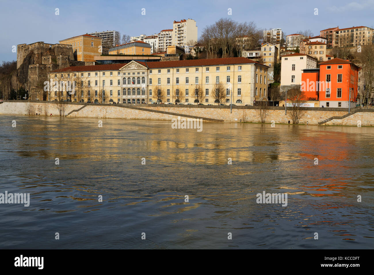 LYON, FRANCE, March 7, 2015 : 'Le grenier d'abondance' (attic of abundance) is ideally placed in the - Stock Image