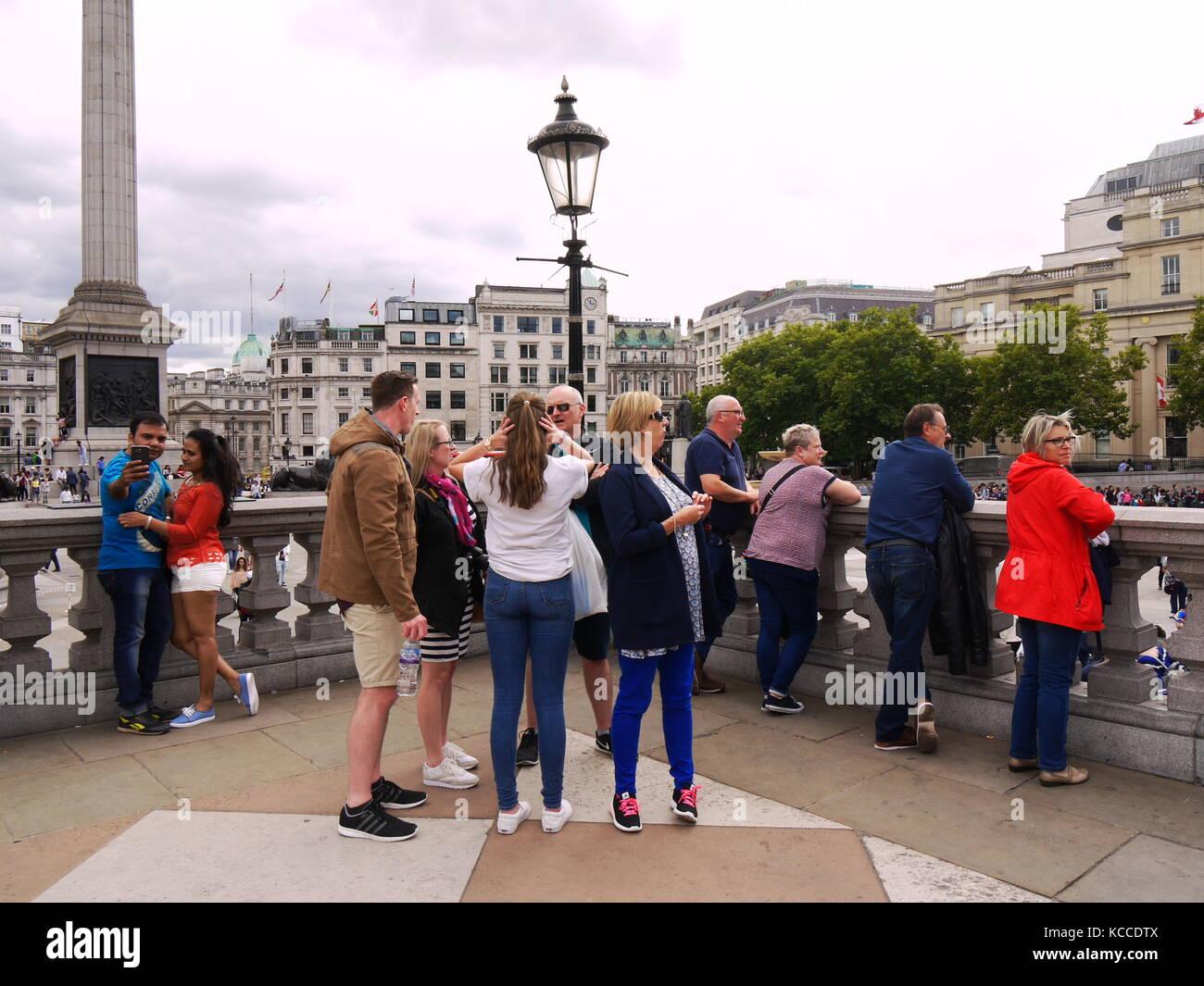 Trafalgar Square London - Stock Image