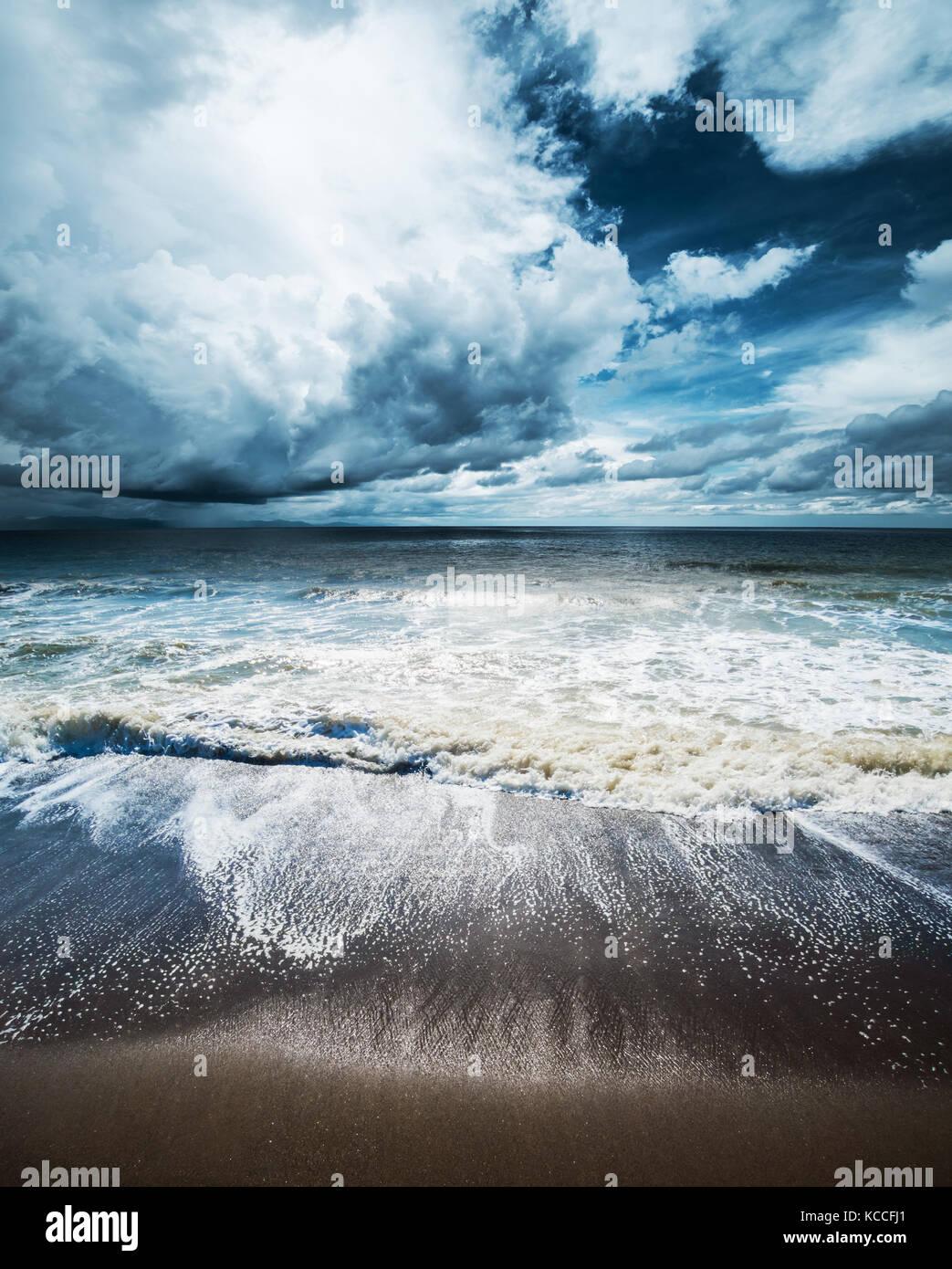 Sea storm landscape - Stock Image