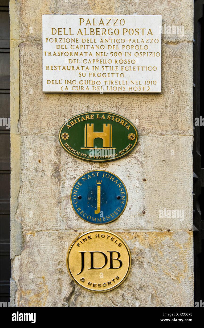 Albergo Posta, Reggio Emilia, Italy - Stock Image