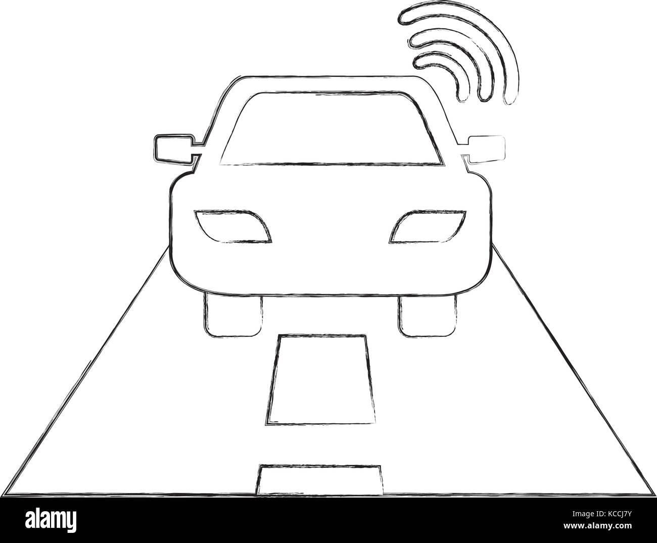 navigation gps signal street car transportation - Stock Image