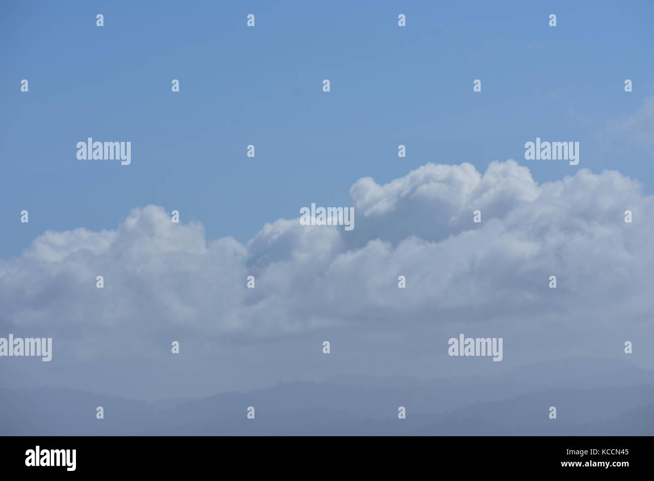 Fluffy Clouds - Stock Image