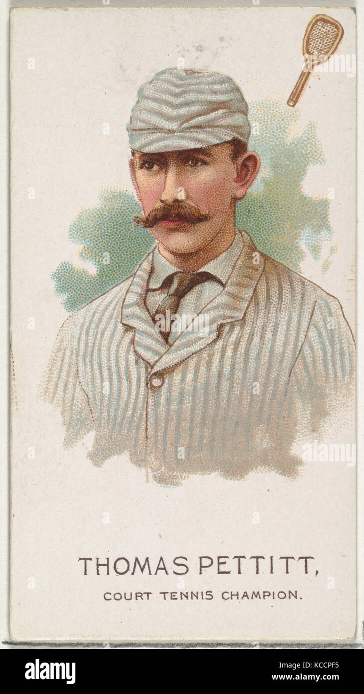 Thomas Pettit, Court Tennis Champion, from World's Champions, Series 2 (N29) for Allen & Ginter Cigarettes, - Stock Image