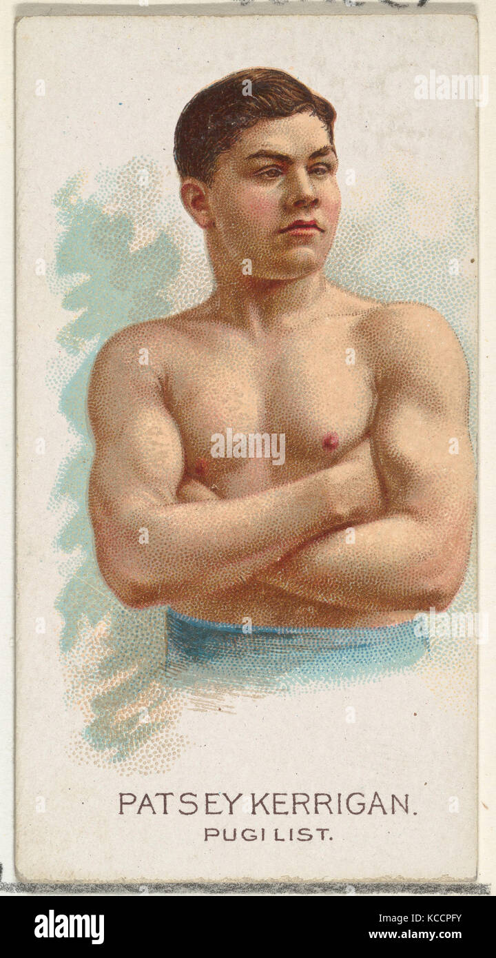 Patsey Kerrigan, Pugilist, from World's Champions, Series 2 (N29) for Allen & Ginter Cigarettes, 1888 - Stock Image