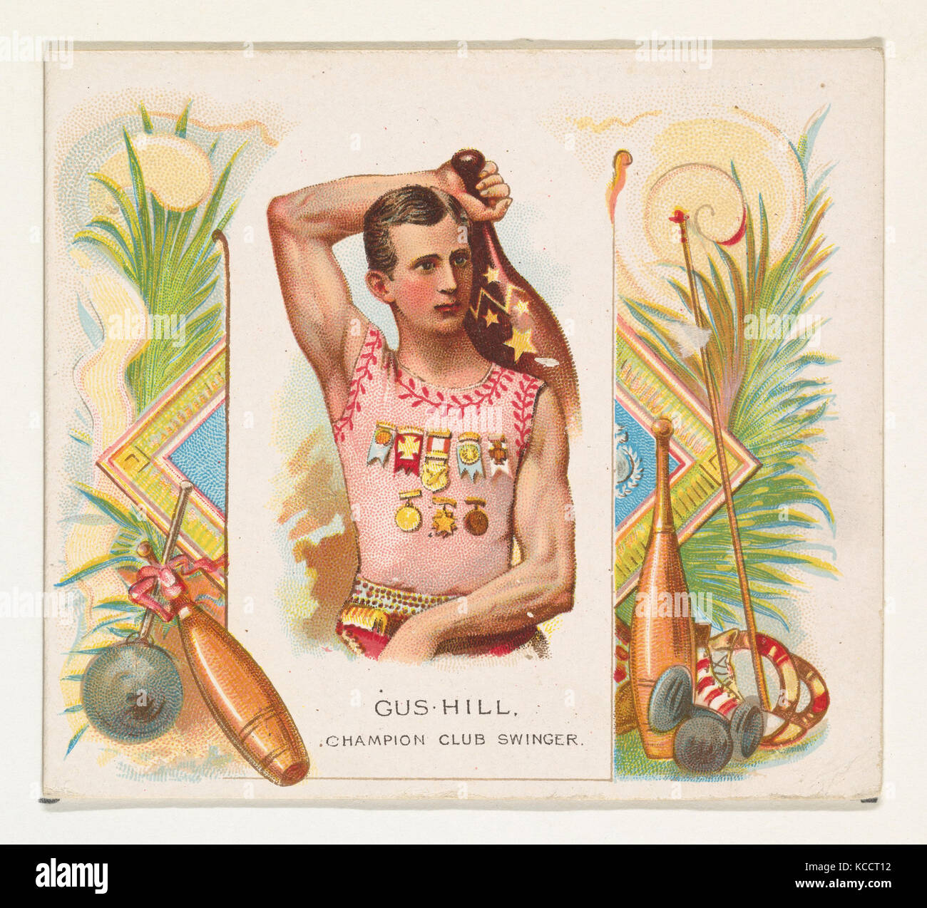 Gus Hill, Champion Club Swinger, from World's Champions, Second Series (N43) for Allen & Ginter Cigarettes, - Stock Image