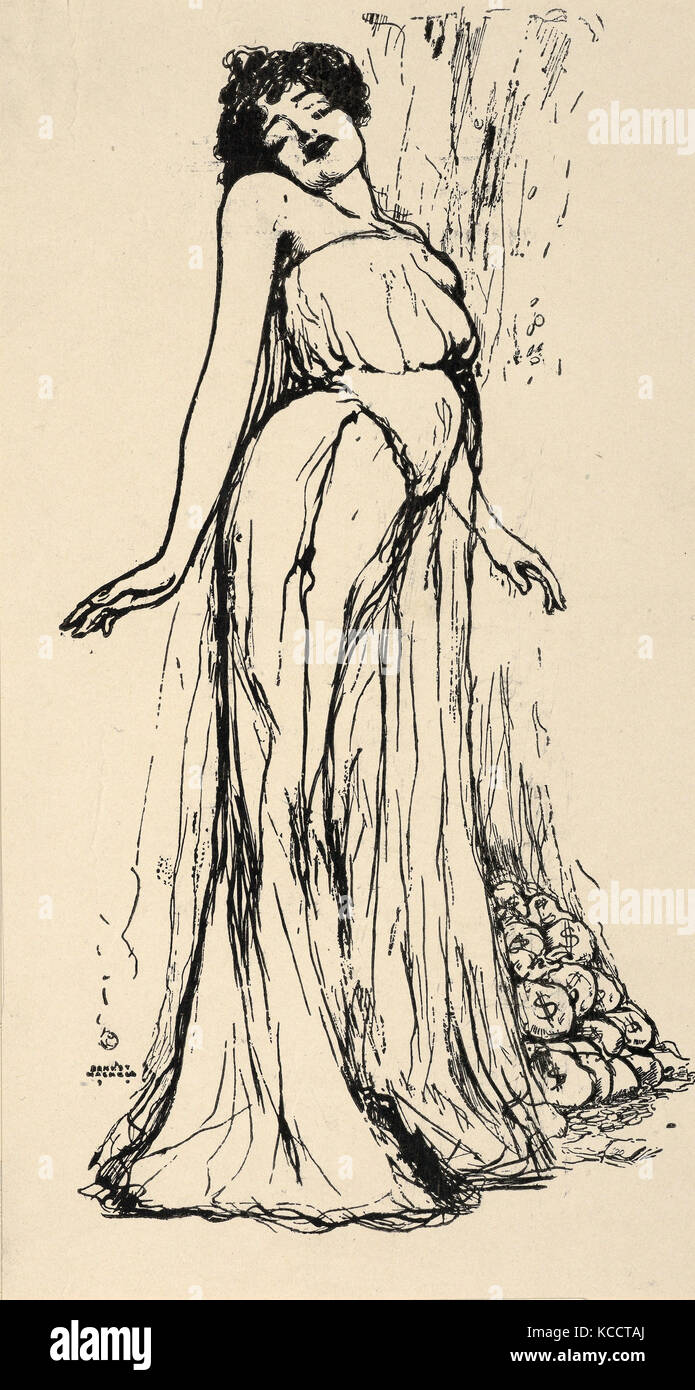 Drawings and Prints, Print, Olga Nethersole, Artist, Ernest Haskell, American, Woodstock, Connecticut 1876–1925 - Stock Image