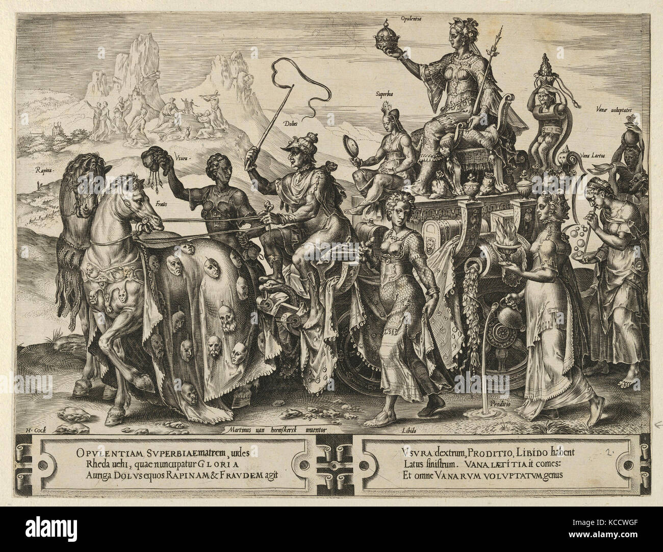 Drawings and Prints, Print, The Triumph of the Riches, from The Cycle of the Vicissitudes of Human Affairs, plate - Stock Image