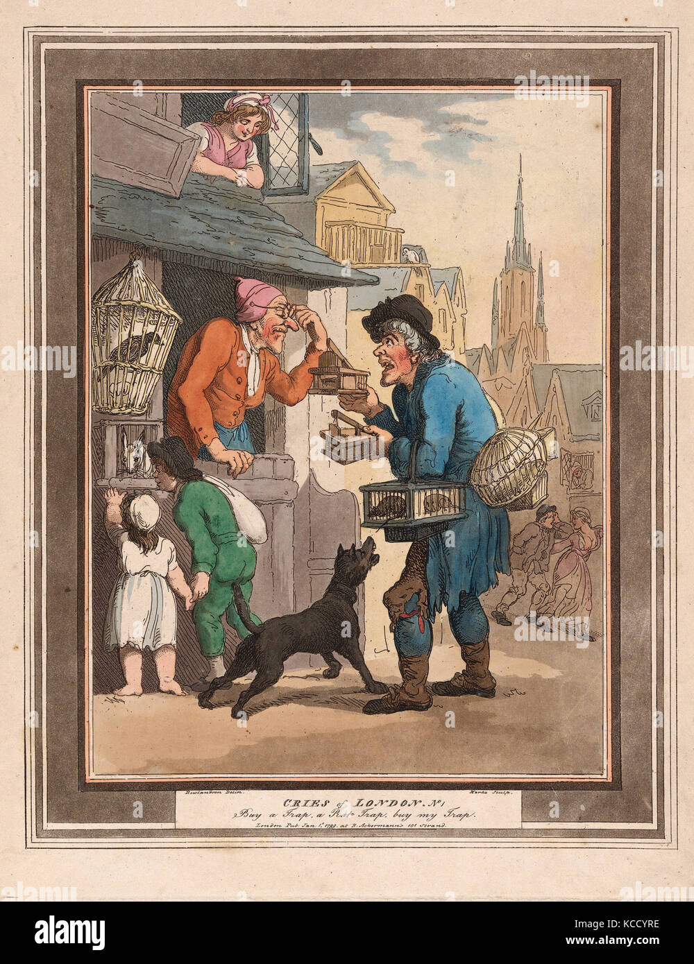Drawings and Prints, Print, Cries of London: No.1: Buy a Trap, a Rat-Trap, Cries of London - Stock Image