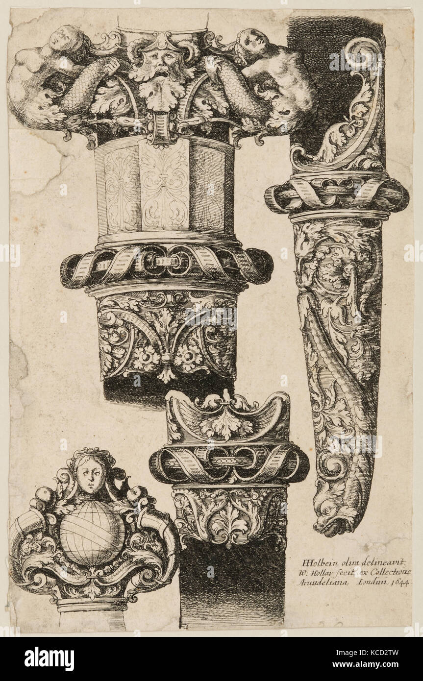 Print of Designs for Hilt and Sheath Fittings, 1644 - Stock Image