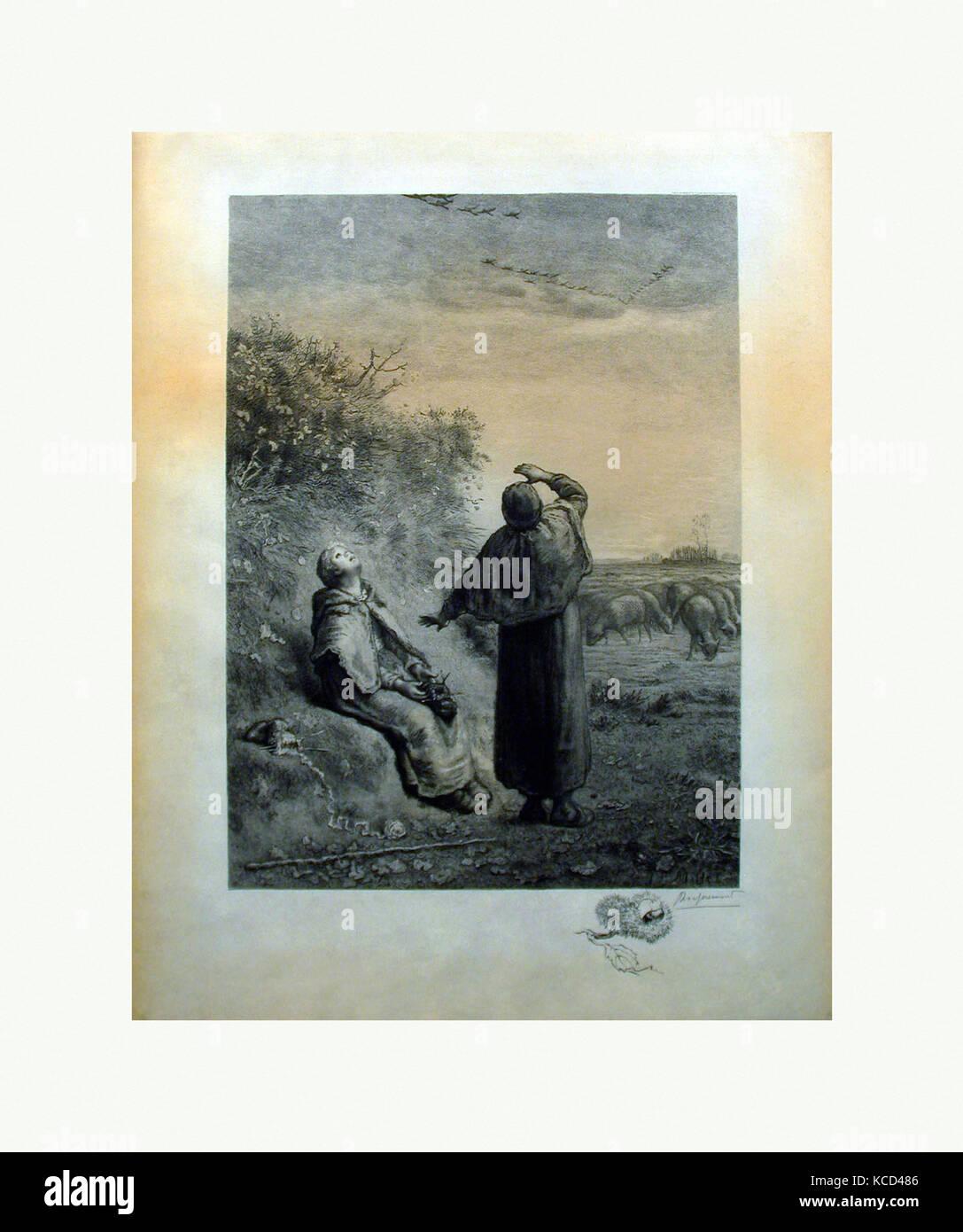 Automne, 1888, Print, 25 3/4 x 20 in., Prints, Félix Bracquemond (French, Paris 1833–1914 Sèvres - Stock Image
