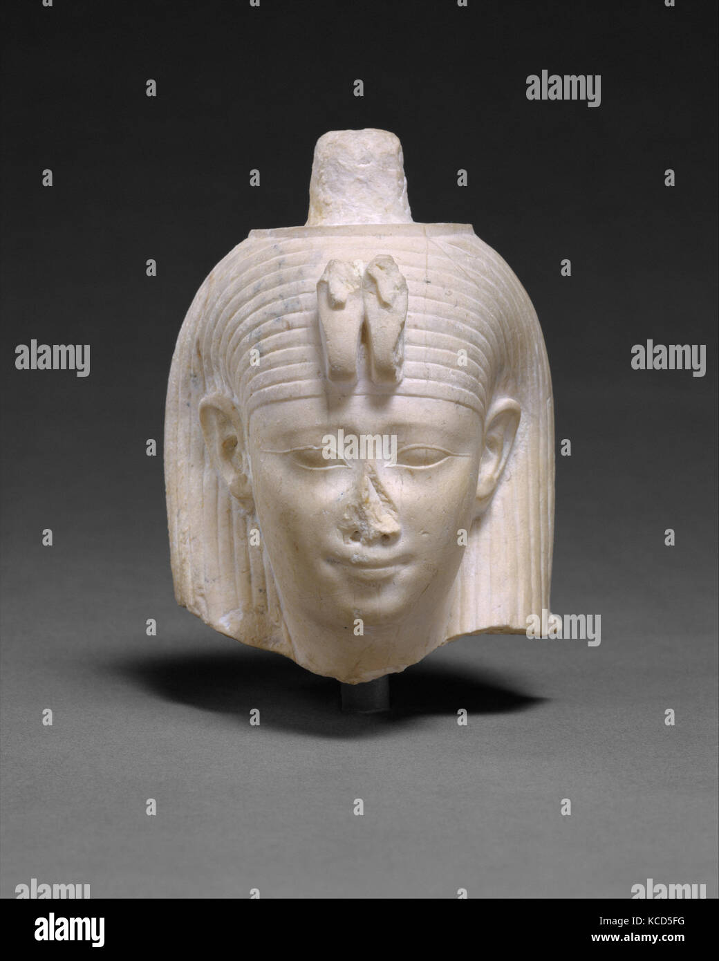 Head Attributed to Arsinoe II, Ptolemaic Period, 278–270 B.C., From Egypt, Memphite Region, Abu Rawash, IFAO excavations - Stock Image