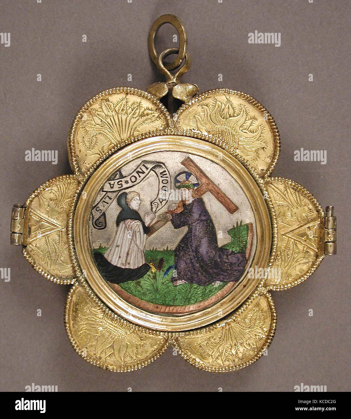 Reliquary pendant stock photos reliquary pendant stock images alamy reliquary pendant 15th century french basse taille enamel niello silver aloadofball Image collections