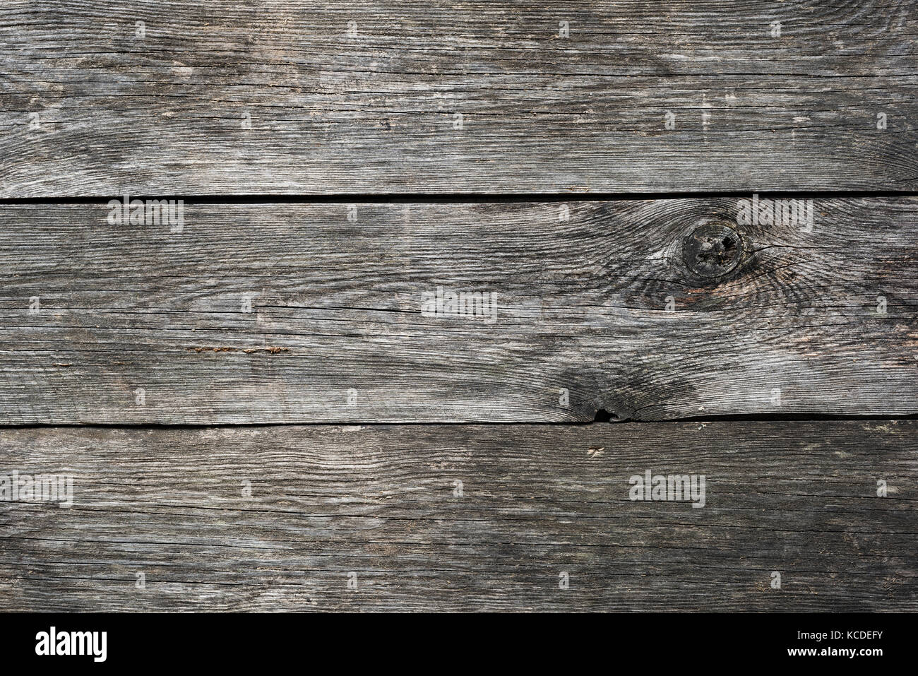 Grey wooden background texture. Wooden planks. Horizontal view Stock Photo