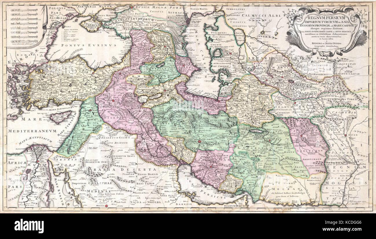 1730 ottens map of persia iran iraq turkey stock photo 1730 ottens map of persia iran iraq turkey gumiabroncs Choice Image