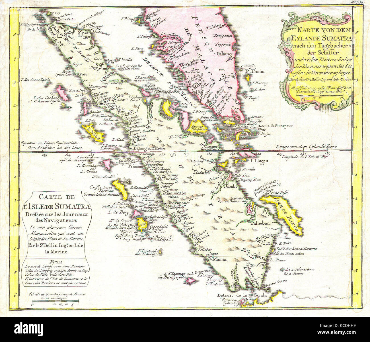 Picture of: 1852 Bellin Map Of Sumatra Malaca And Singapore Stock Photo Alamy