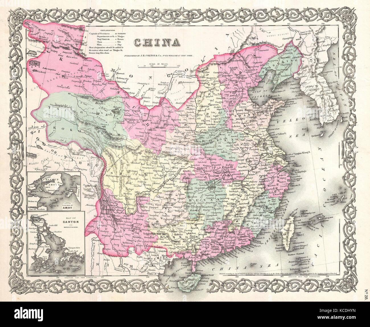 Taiwan map stock photos taiwan map stock images alamy 1855 colton map of china taiwan and korea stock image gumiabroncs Choice Image