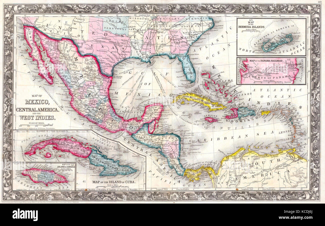 1860, Mitc's Map of the West Indies, Mexico and Central ... on map of civil war 1860, map of usa in 1860, map of religion in 1860, map of the united states 1860, map of prussia 1860, map of boston 1860, map of kansas 1860, map of chicago 1860, map of alabama 1860, map of western states in 1860, map of u.s. 1860,