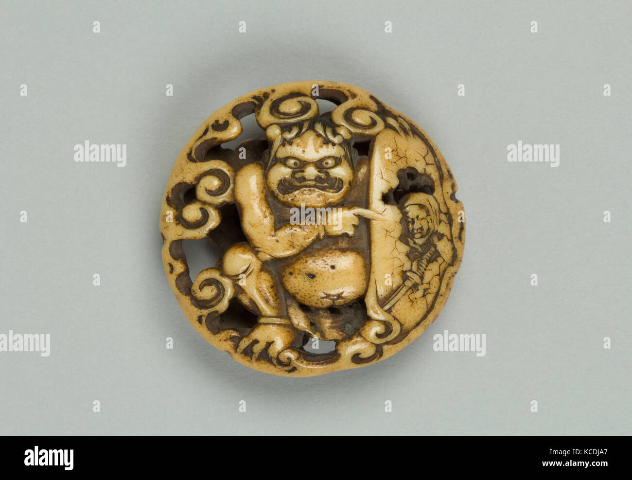 Netsuke With Carved Demon 18th Century Japan Bone H 1 2 In 1 3 Stock Photo Alamy