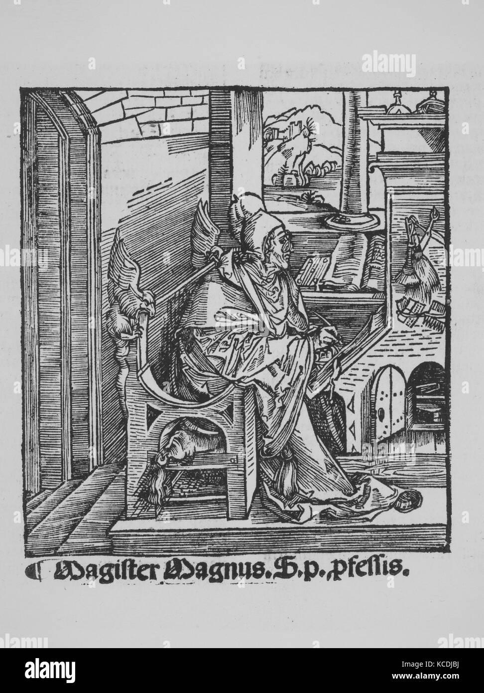 Apocalypsis cu Figuris, 1511, Woodcut, 20 1/16 × 15 3/8 × 5/8 in. (51 × 39.1 × 1.6 cm), Books - Stock Image