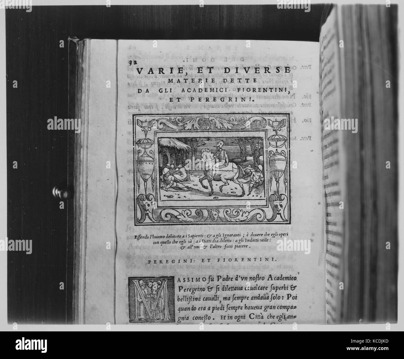 I Marmi, 1552–53, Printed book with woodcut illustrations, Books - Stock Image