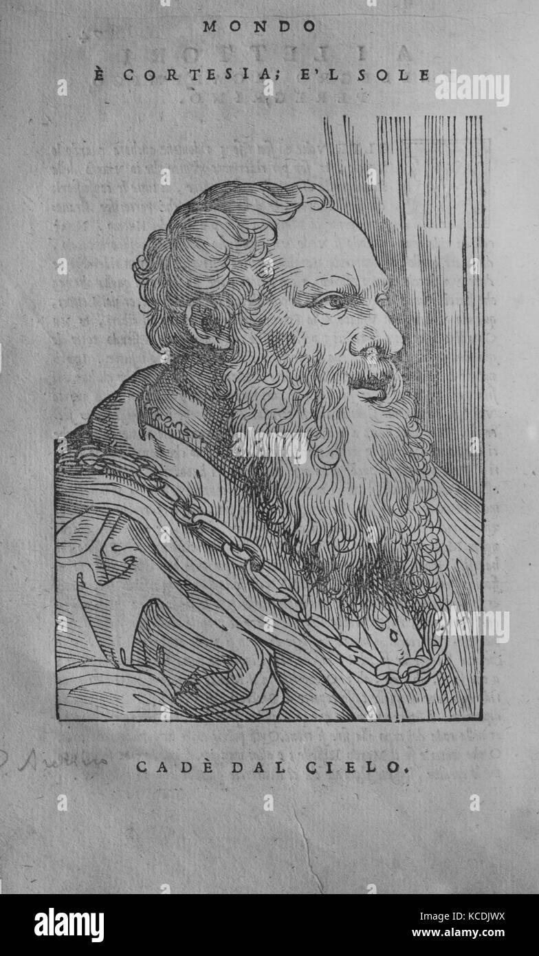 I Mondi (1552), 1552–53, Printed book with woodcut illustrations., Books - Stock Image