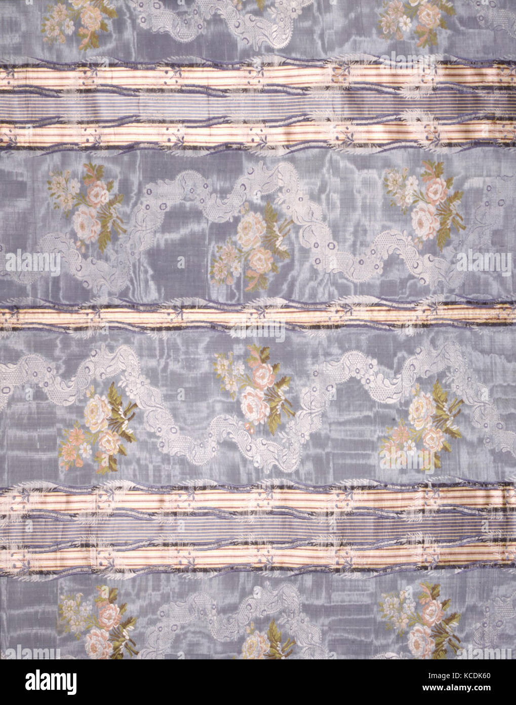Cover or Hanging, 18th century (?), Spanish (?), Silk, 108 1/2 x 80 in. (278.5 x 205.7 cm), Textiles-Ecclesiastical - Stock Image