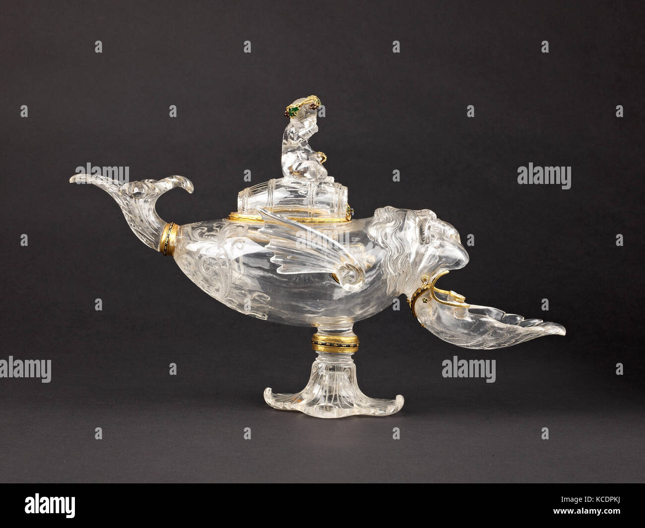 'Ewer' in the Form of a Sea Monster Ridden by Bacchus, ca. 1860–1907, probably with later additions - Stock Image
