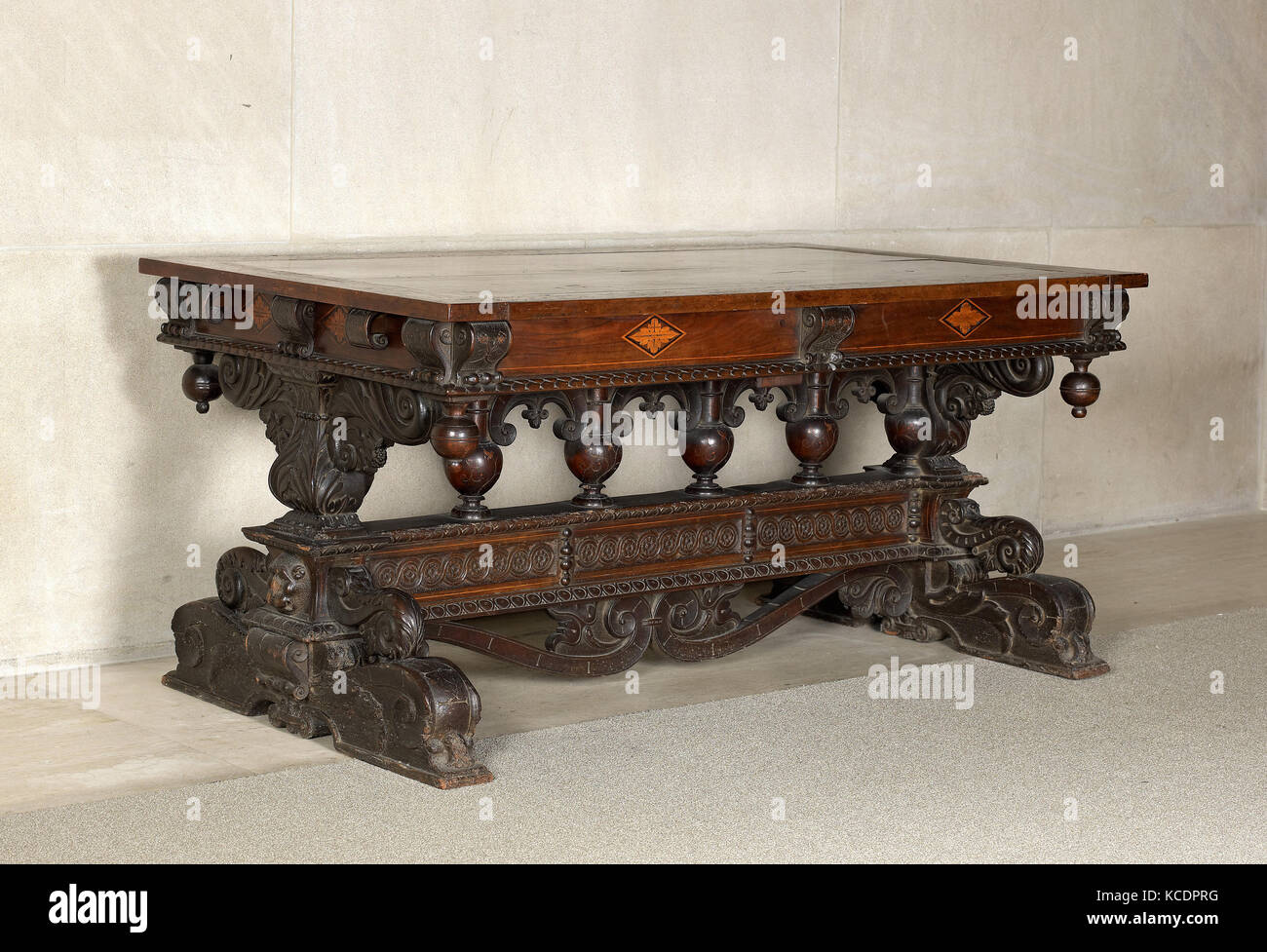 Table, 19th or first decade of 20th century (with earlier parts - Stock Image