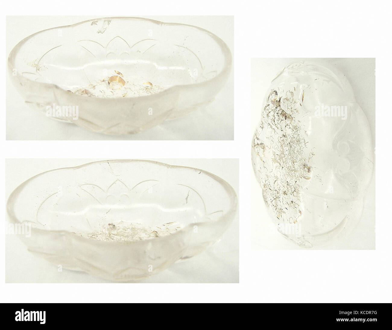 Small Lobed Bowl, 9th–10th century, Possibly from Central Asia, Rock crystal; carved, relief-cut, 5 x 10 in. (12.7 - Stock Image