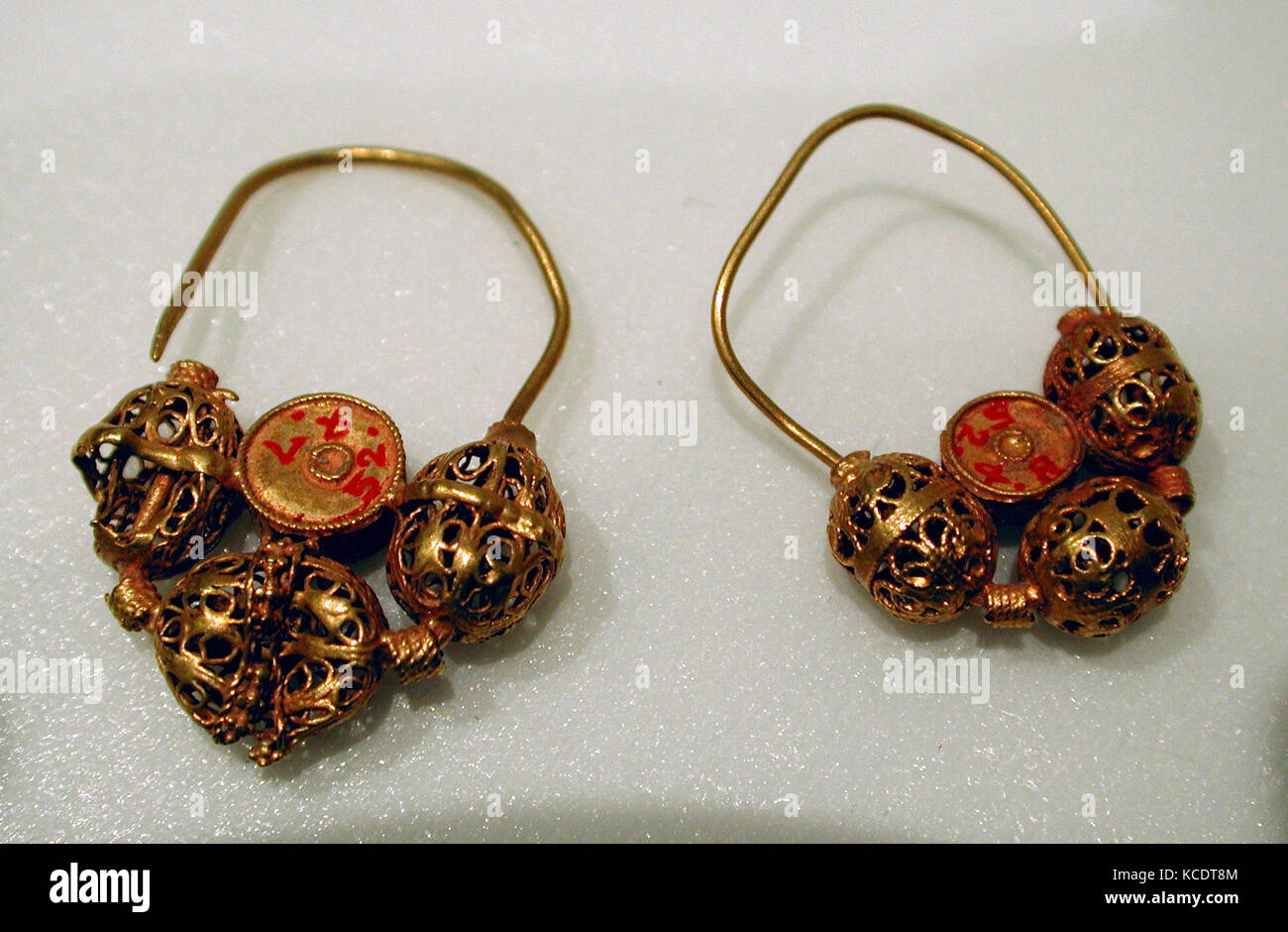Earring, 12th–13th century, Found Iran, Gurgan, Gold wire with Stock ...