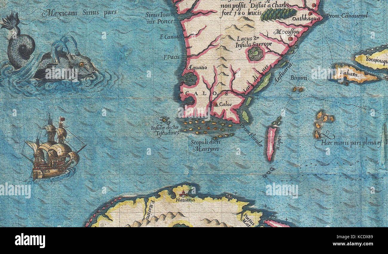 Map of cuba and florida stock photos map of cuba and florida stock 1591 de bry and le moyne map of florida and cuba usa us gumiabroncs Image collections