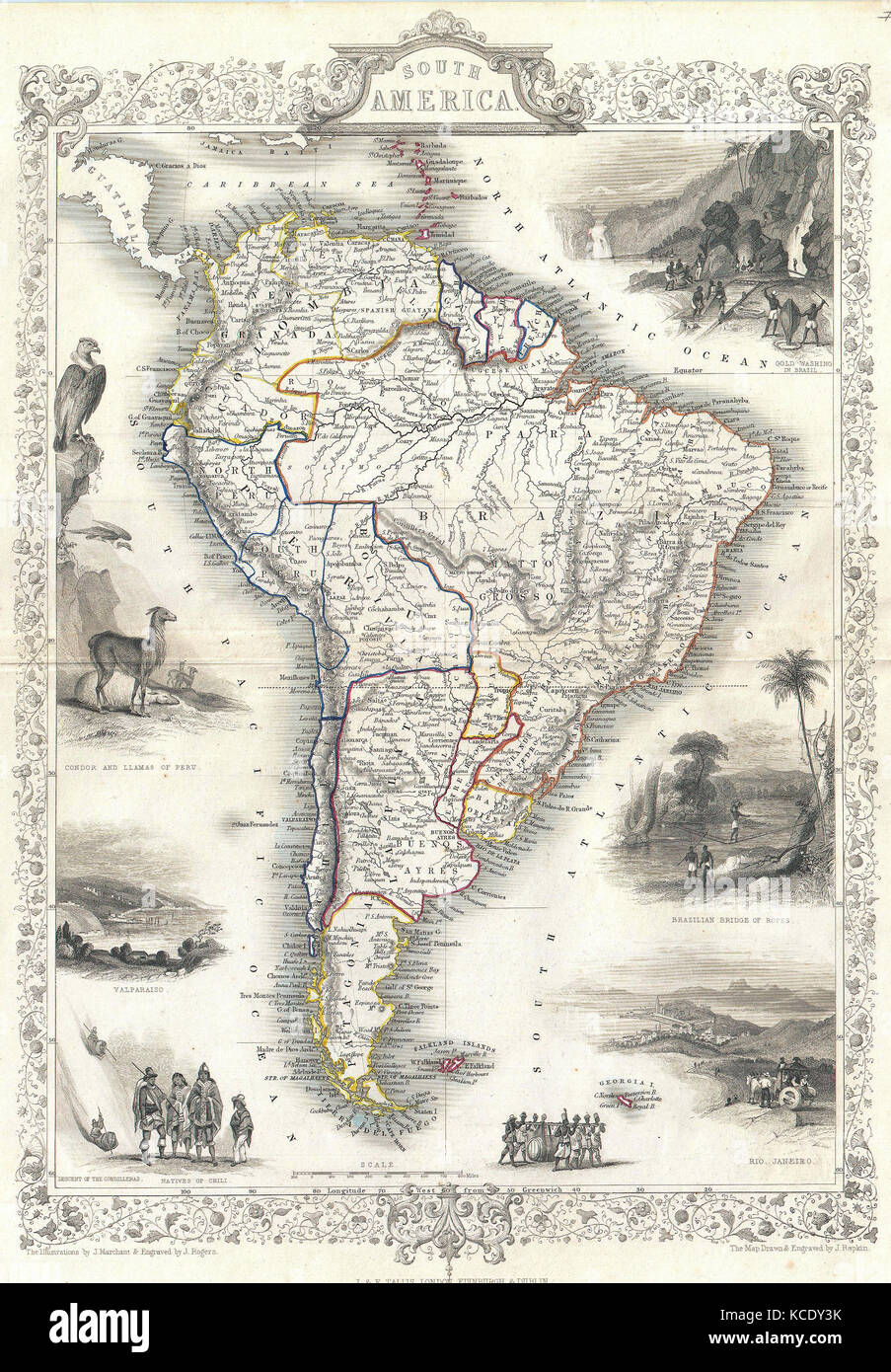 South America Ancient Map Stock Photos South America Ancient Map
