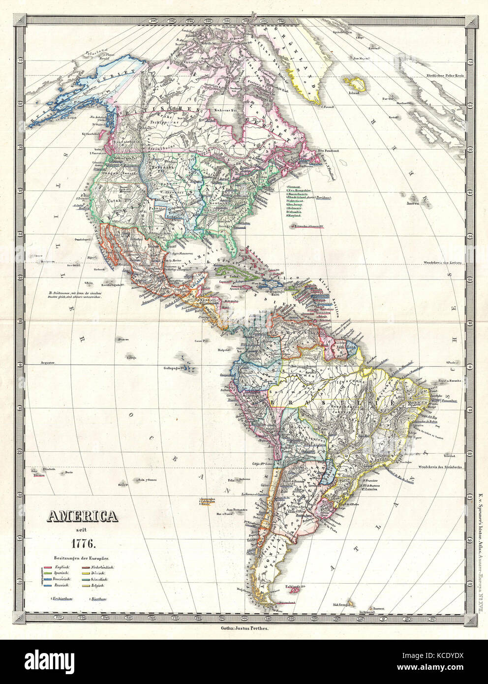 Vintage Map Americas Stock Photos & Vintage Map Americas ... on