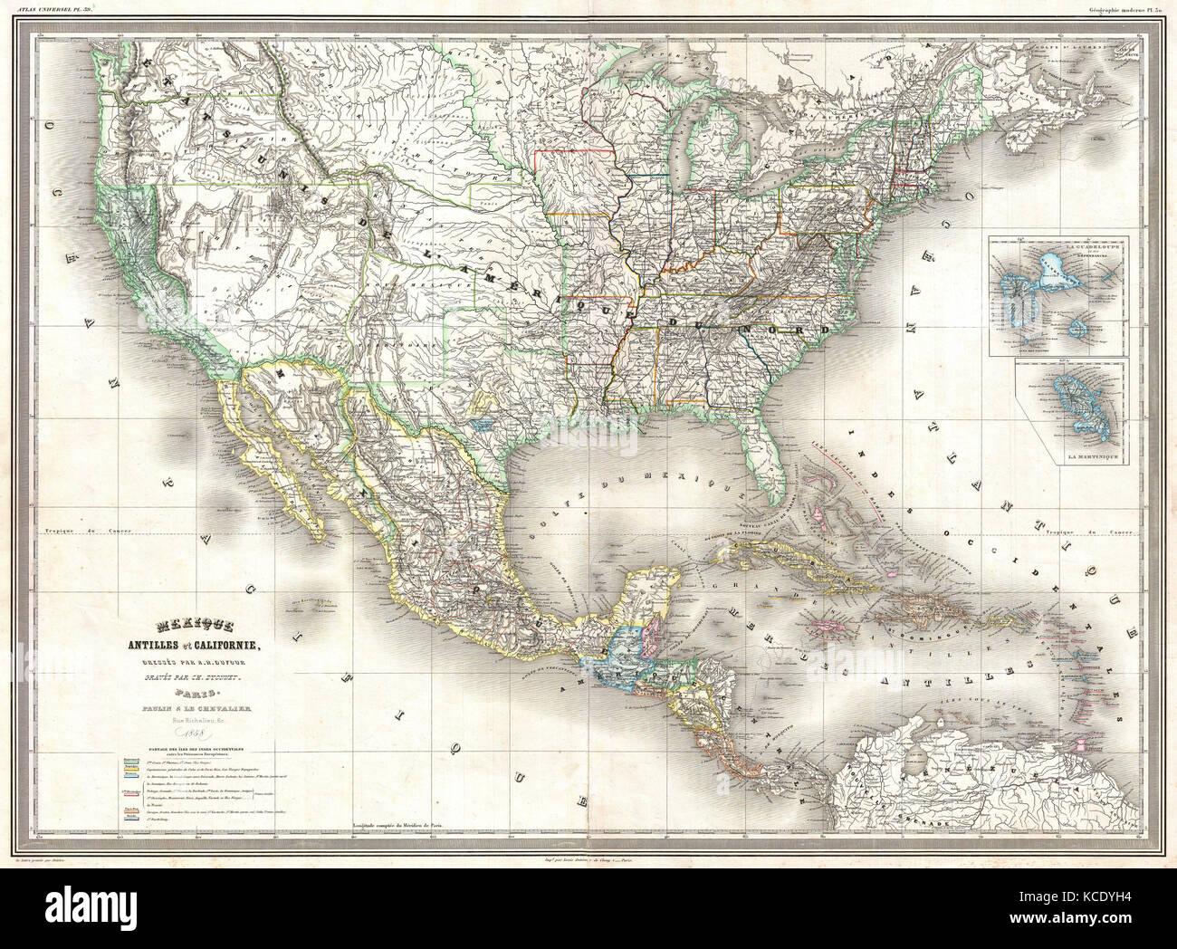 Historic Maps United States Stock Photos & Historic Maps United ...