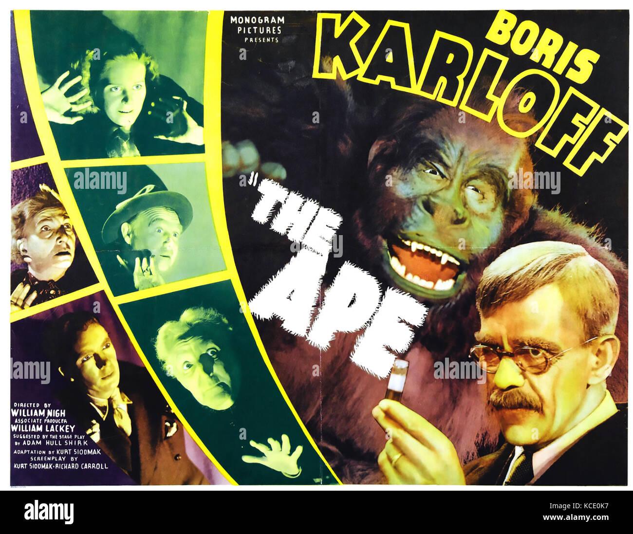 THE APE 1940 Monogram Pictures horror film with Boris Karloff - Stock Image