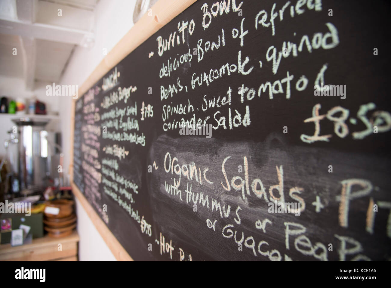 Little Lotus, Vegan Cafe, Truro, Cornwall. - Stock Image