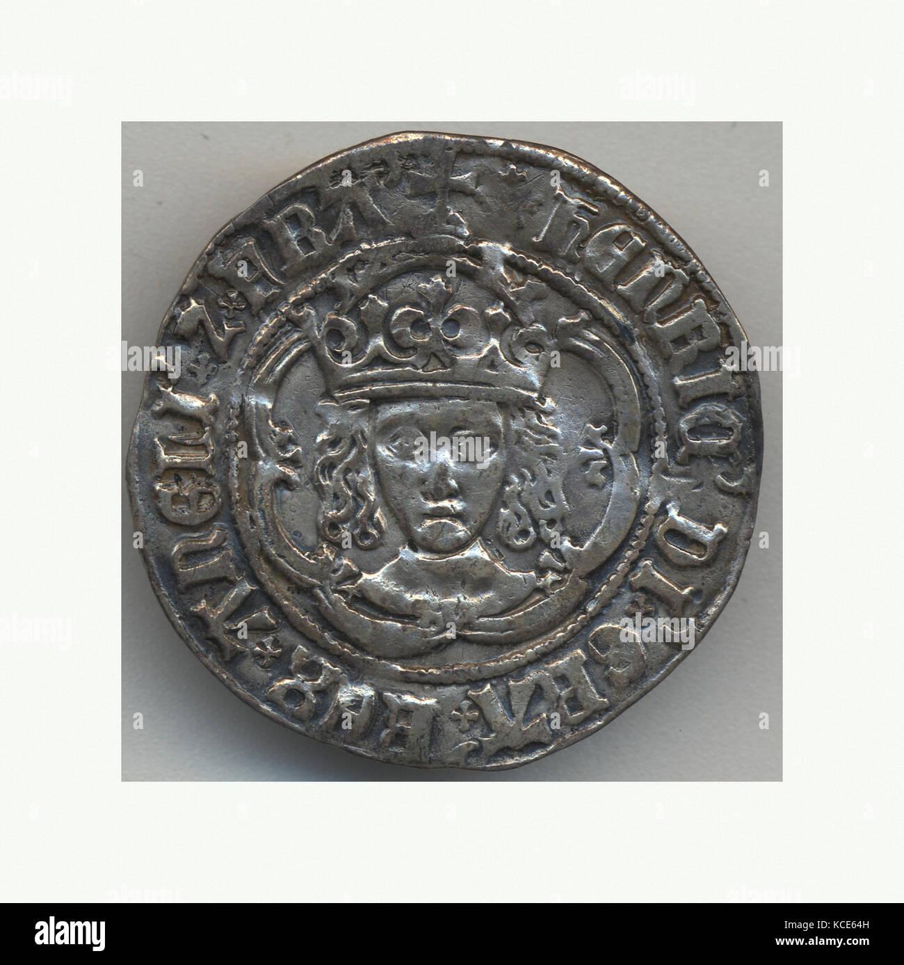 Half Groat of Henry VII (1485-1509), 15th–16th century - Stock Image