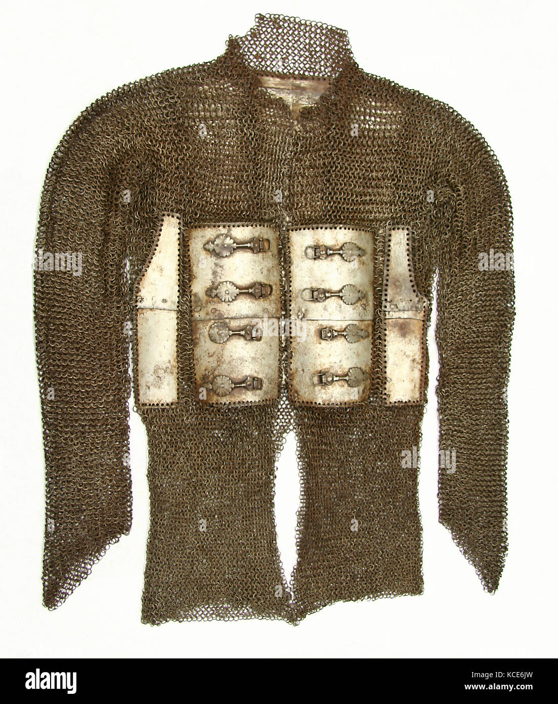 Shirt of Mail and Plate, ca. 1650, Indian, Steel, Overall L: 55 1/2 in. (141 cm), Armor for Man - Stock Image