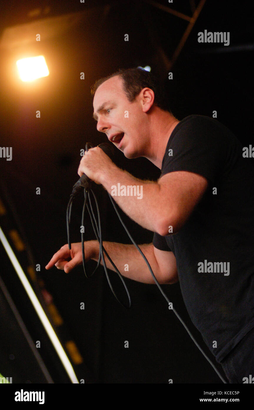 Greg Graffin of Bad Religion performs at the 2007 Vans Warped Tour at the Coors ampitheatre in Chula Vista, CA - Stock Image